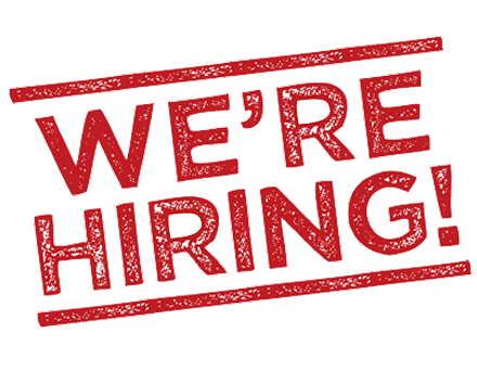 We're Hiring. Click Here to Learn More!